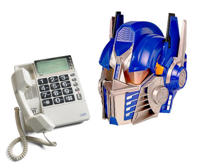 captel phone2 700x8891 You won't believe who just called me!  Optimus Prime!!!!