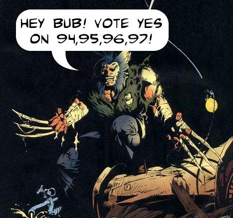wolverine111 vote yes Superhero Tuesday!