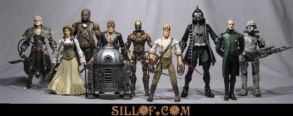 star wars group Victorian Era Star Wars and Comic Figures