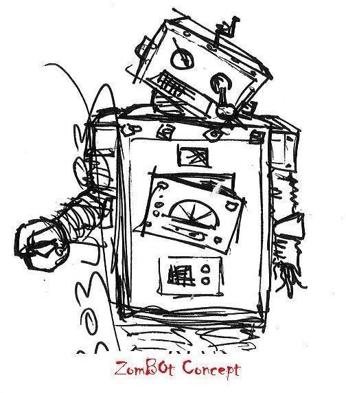 zombie robot concept The Zombie Robot Diary