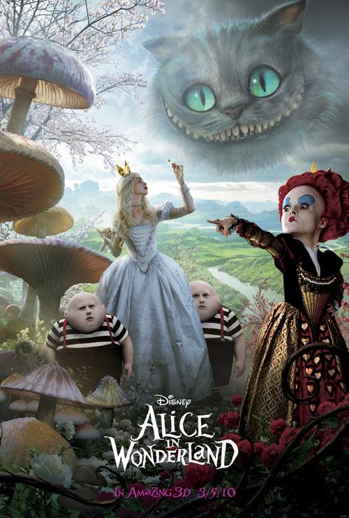 Tim Burtons Alice in Wonderland White Queen and Red Queen small NEW Tim Burtons Alice in Wonderland Image