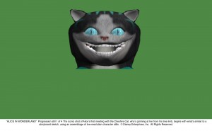 Cheshire Cat Progression 1 of 4 JPG 300x185 New Alice In Wonderland Images