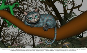 Cheshire Cat Progression 2 of 4 JPG 300x185 New Alice In Wonderland Images