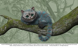 Cheshire Cat Progression 3 of 4 JPG 300x185 New Alice In Wonderland Images