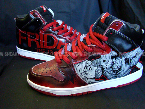 nike dunk jason custom sneakers Shoes To Die For