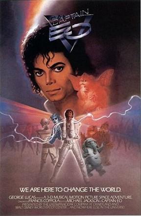 Captain EO poster Review: Michael Jackson's Captain EO 3D Adventure Returns to Disneyland