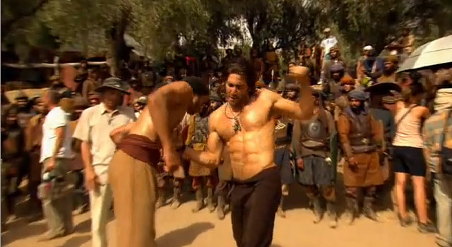 shirtless jake gyllenhaal prince of persia stunt More Prince of Persia Featurettes with Parkour and Assassins