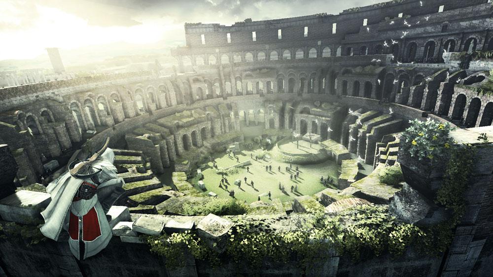 Assassins Creed Brotherhood Colloseum Ezio Returns in Assassins Creed Sequel with Multiplayer