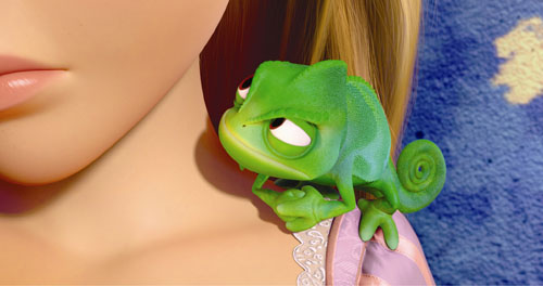Disney Tangled Rapunzel and Chameleon Disney's Rapunzel is Now Tangled: Teaser and Images Galore