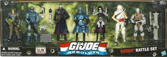 GI R Cobra G.I. Joe Resolute: Figure 7 Packs!