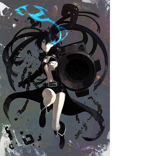 Art1 Black Rock Shooter:  Sexy Anime Style At Its Best!