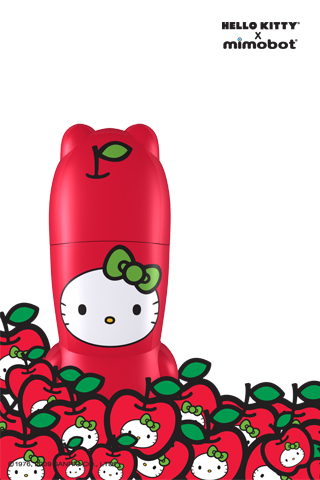 HelloKitty Apple apples Review: Mimobot Designer Hello Kitty USB Drive