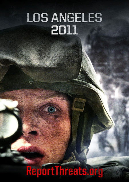 battl5 Battle: Los Angeles Posters   Sci Fi Meets Black Hawk Down