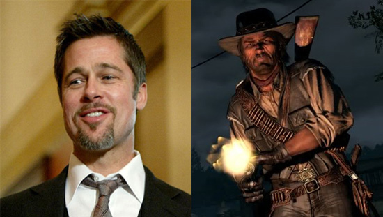 bradpittreddead Brad Pitt Starring In Red Dead Redemption Movie?