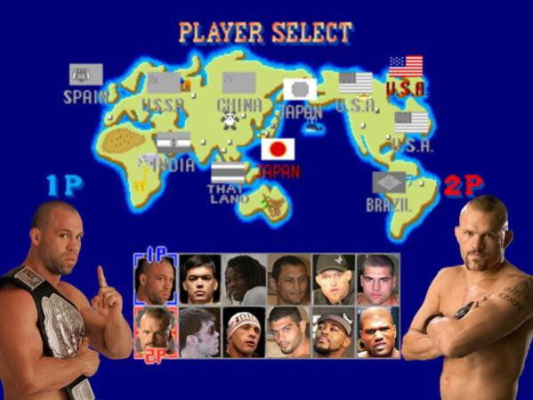 sf2 screen MMA Fighters as SF and MK Characters