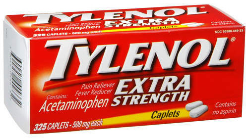 Tylenol Extra Strength Caplets 325 Count Cure for Rejection: Tylenol