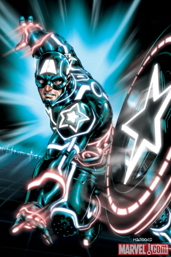 captainamerica Marvel Characters In Tron Universe