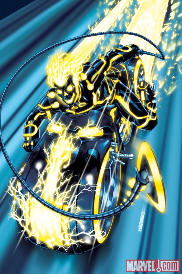 ghostrider Marvel Characters In Tron Universe