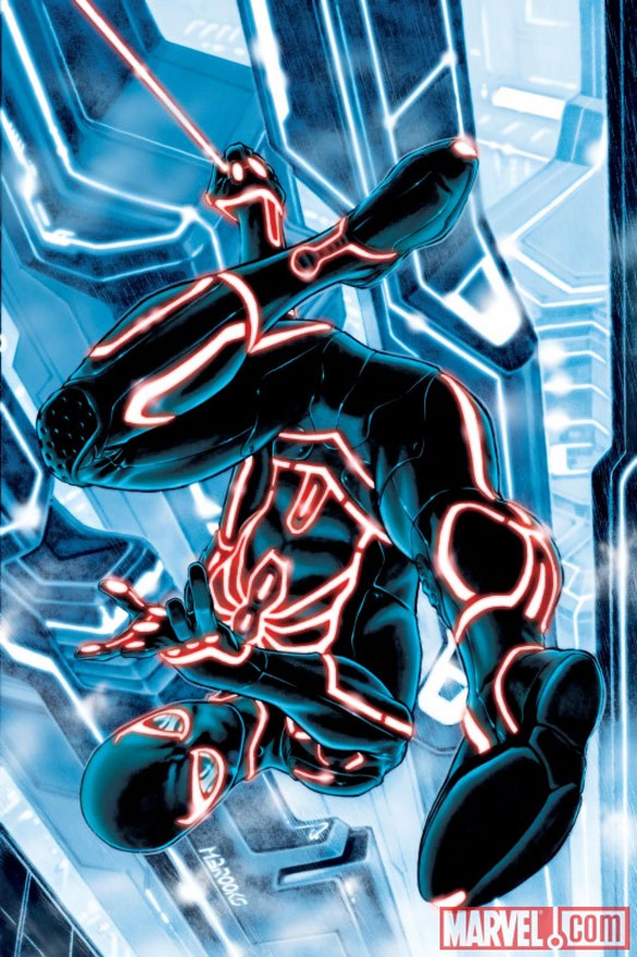 spider man Marvel Characters In Tron Universe