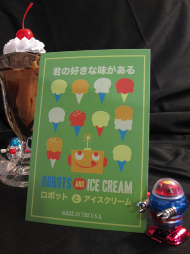 postcard1 Robots & Ice Cream Gift Set Winner :)