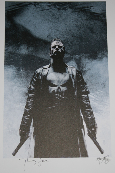 punisher Win Punisher Poster Signed by Actor & Artist!