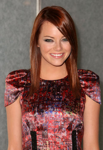 emma stone blonde bangs. Celebrity Profile: Emma Stone