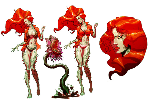 Ivy early concept by Chuckdee Amazing Concept Art For Arkham Asylum