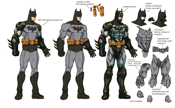 arkham   armored   batman wips  by chuckdee d359026 Amazing Concept Art For Arkham Asylum