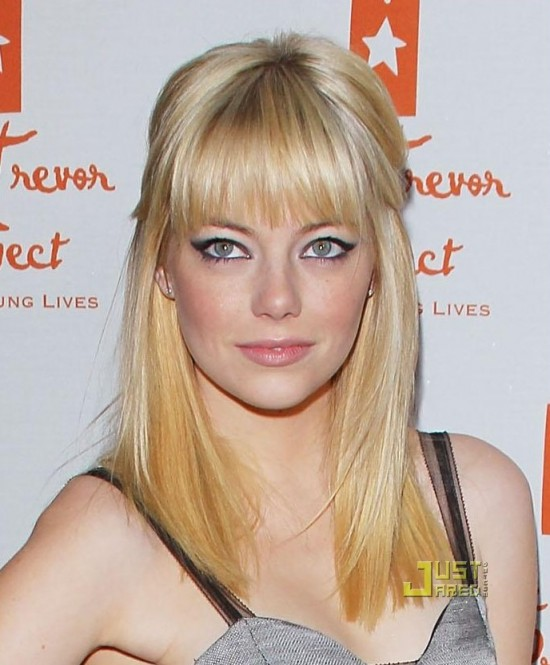 emma stone hairstyles. house makeup tattoo Emma Stone