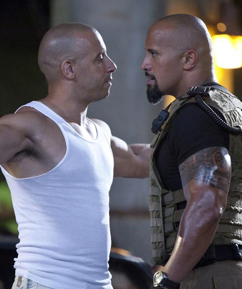 fast five large first look Fast Five   Vin Diesel and The Rock