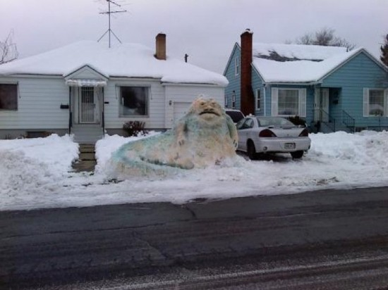 jabba snow Nerd Photo: Jabba Made Of Snow