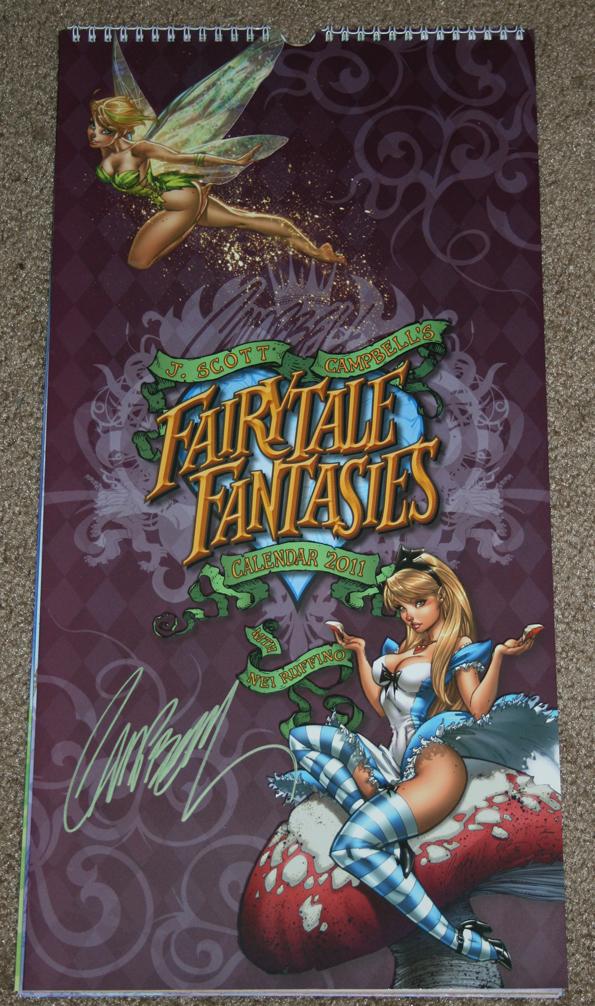 jscott2 calendar Fairytale Fantasies Calendar Winner Signed By J. Scott Campbell