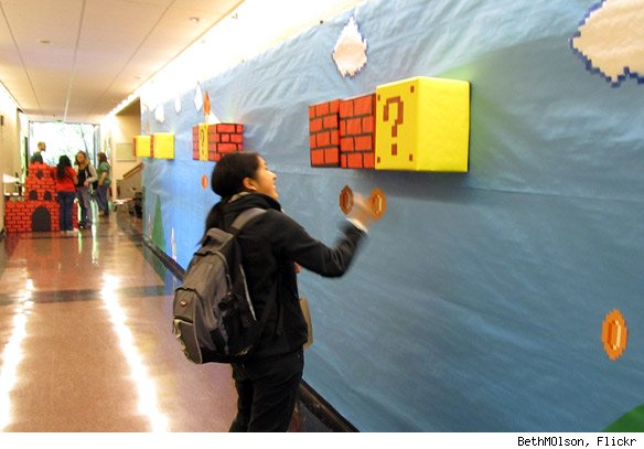 mario hallway 584i Super Mario College Hall