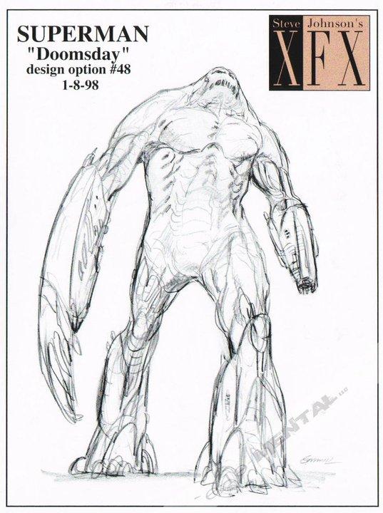 superman concept1 Superman Flashy Costume & Doomsday Concept From Tim Burton
