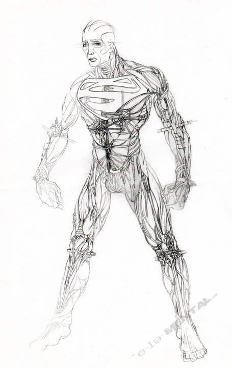superman concept3 Superman Flashy Costume & Doomsday Concept From Tim Burton