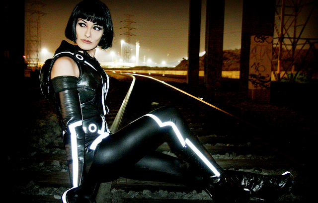 5063920308 eda87fe8ba z Sexy And Awesome Quorra Cosplayer From Tron Legacy