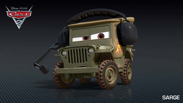 Sarge Cars 2 Profile Pics Includes Lightning McQueen