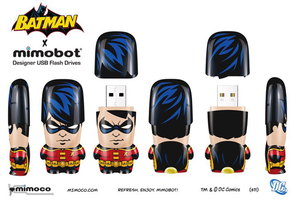 robin Batman Mimobots USB Flash Drives