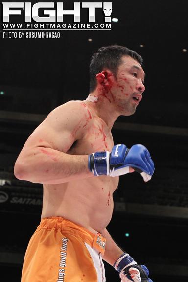 sakuraba ear fall MMA: Sakurabas Ear Falls Off