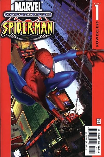 spider man comic book ultimate cover 01 Andrew Garfield In Spider Man Costume Compared To Tobey