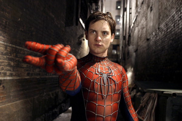 spiderman 2 movie image tobey maguire  1  Andrew Garfield In Spider Man Costume Compared To Tobey