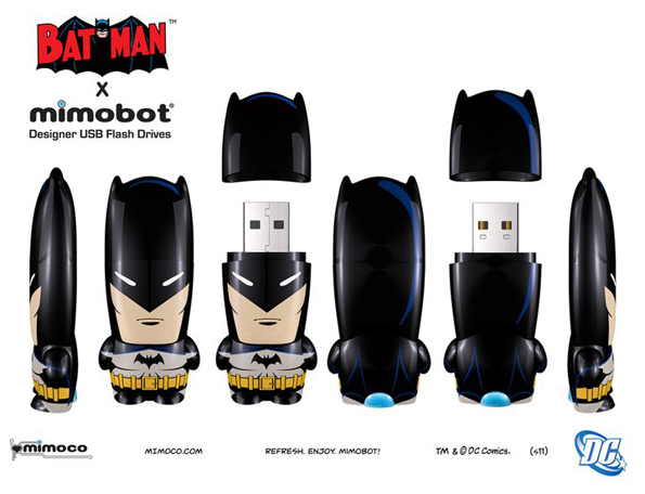 vintagebatman Batman Mimobots USB Flash Drives