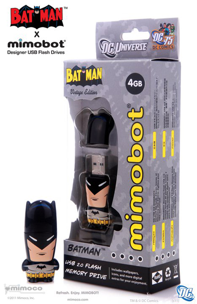 vintagebatmanbox Batman Mimobots USB Flash Drives