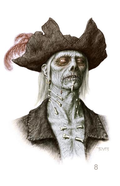 Zombie 08 color POTC: On Stranger Tides Zombie Concept Art