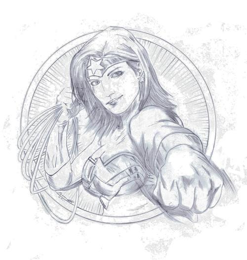 GinaWonderWoman a Awesome Gina Carano/Wonder Woman Sketch