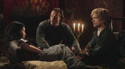 Shae Bronn Tyrion Game of Thrones Season 2 Sneak Preview