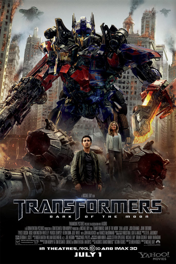 Transformers Poster Movie Review: Transformers: Dark of the Moon