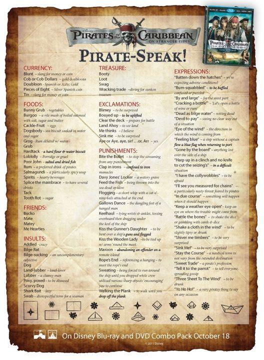 talk pirate Speak Pirate Day