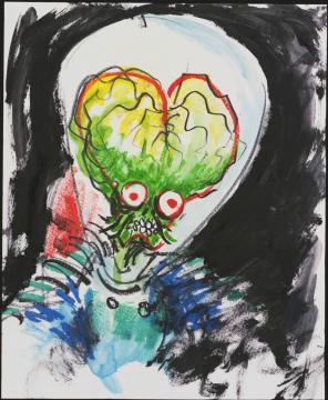 MARSAttacks watercolor800 Tim Burton Exhibit Review