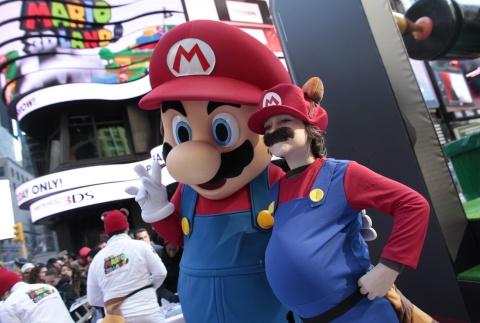 mario3d Mushroom Kingdom at Times Square For Mario 3D Land